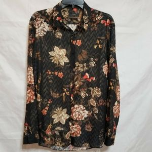 Zara Relaxed Fit Tunic Blouse Size Large